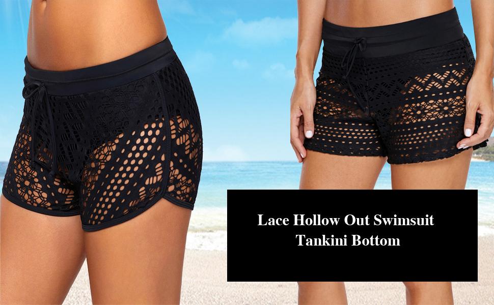 e7cec783b2 Aleumdr Women's Sexy Bikini Bottoms Strappy Swim Briefs Solid Shorts  Tankini Swimsuit