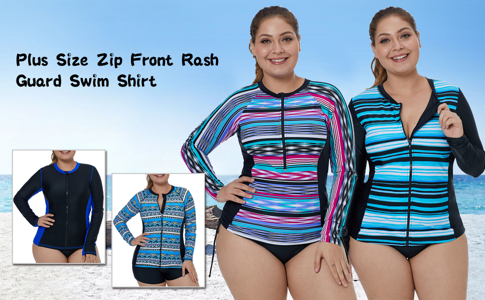 db0009e8991 Swimsuits & Cover Ups Swimsuits & Cover Ups Aleumdr Womens Long Sleeve  Rashguard Swimsuit Zip Front ...