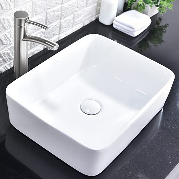 Contemporary Ceramic Bathroom Vessel Sink Art Basin.