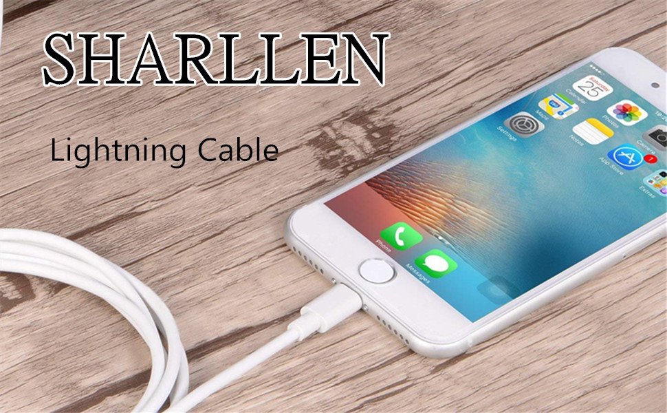 SHARLLEN MFi Certified iPhone Charger Cable (3 Pack 3FT) Fast USB iPhone Charging Cable Long Cord Compatible iPhone XS/Max/XR/X/8/8 Plus/7/7 Plus/6/6 ...