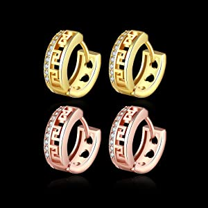 men hoop earrings