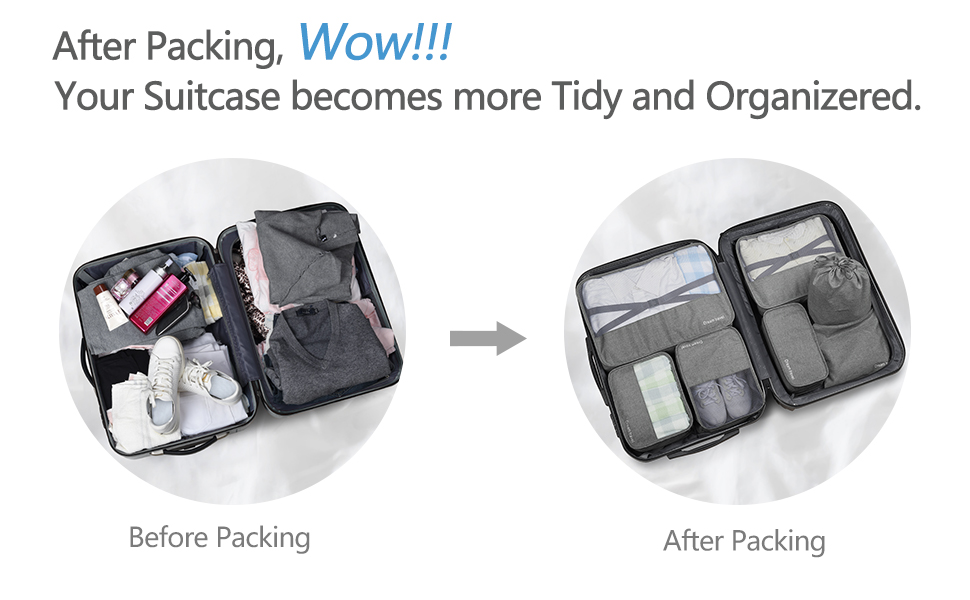 packing cubes for travel