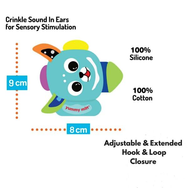 Amazon.com: Yummy Buddy dentición Mitten regalo Combo (Azul ...