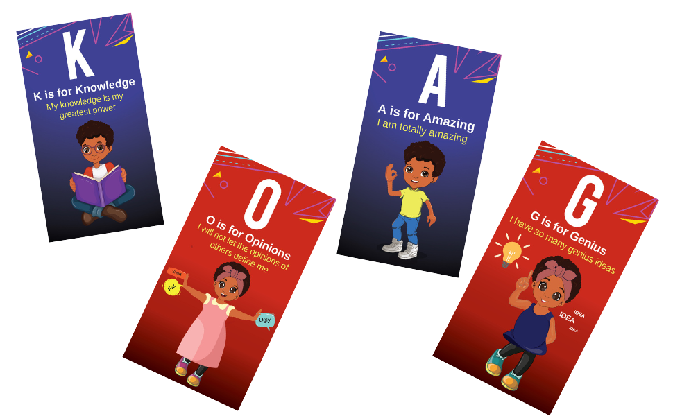 african american flash cards