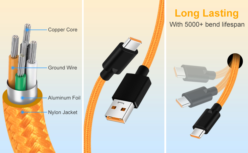 5V 6A Warp Charger Cable