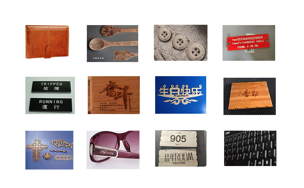 Engraving and cutting samples