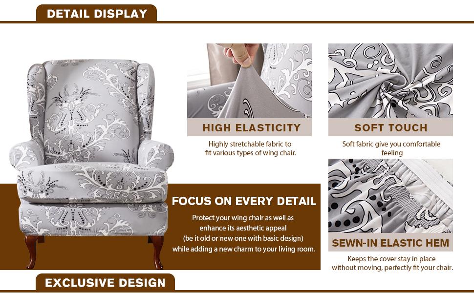 Amazon.com: TIKAMI - Fundas elásticas de licra para sofá con ...