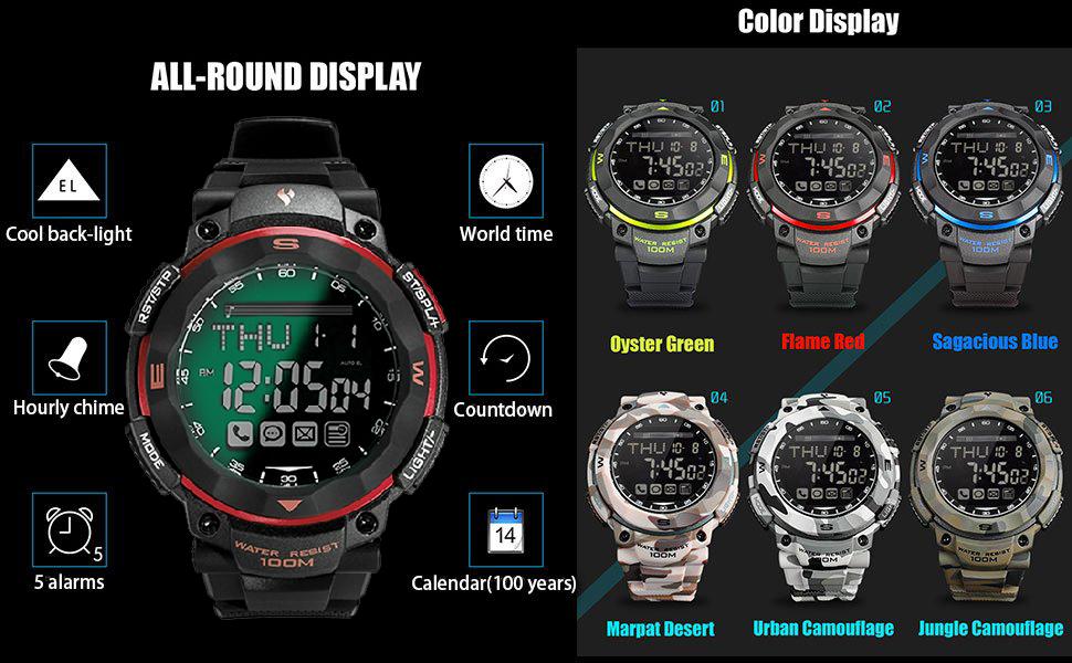 Amazon.com: Waterproof Bluetooth 4.0 Smart Watch for ...