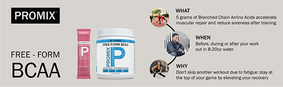 ProMix Nutrition Micronized Free form BCAA powder branched chain amio acids recovery muscle building