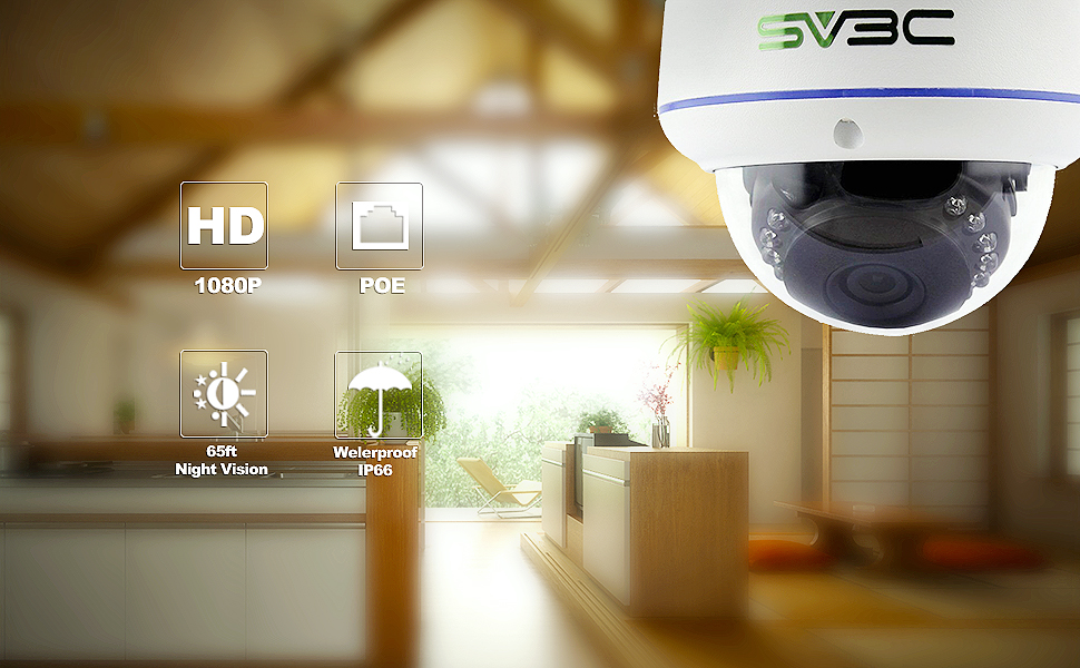 Amazon Com Sv3c Full Hd 1080p Dome Poe Ip Security