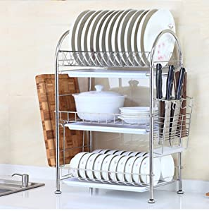 Dish Rack Is A Multi Functional Kitchen Organize Rack, With A Dish Rack,  Cutting Board Rack, Storage Basket, Hook Up, Knife Rack, Spoon Holder  Function.