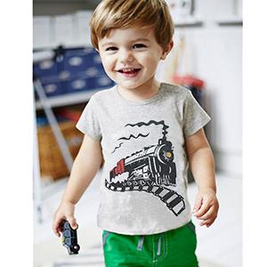 toddler pajamas train t-shirt for boys