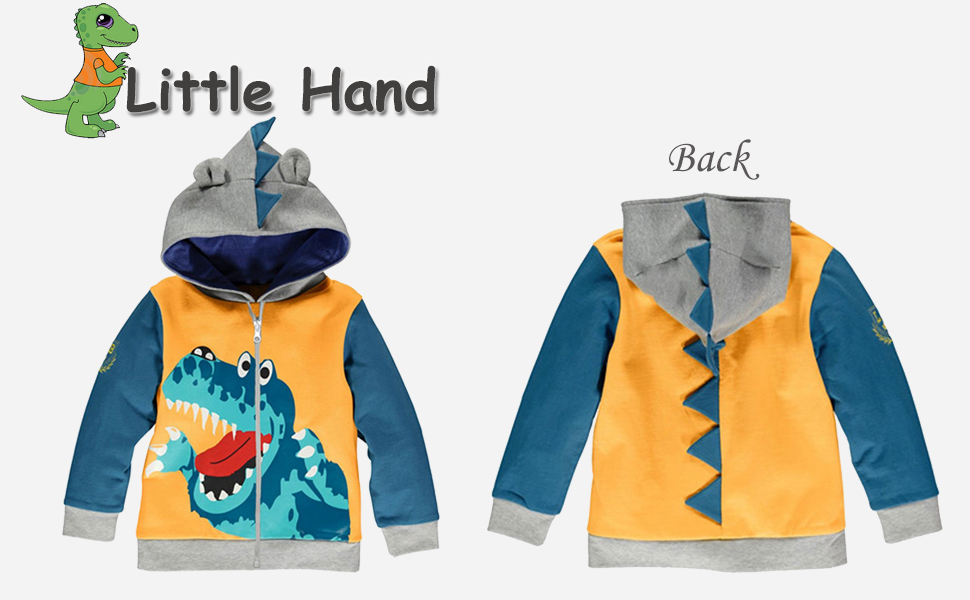 Amazon.com: Little Boys Dinosaur Hooded Jacket, Cartoon