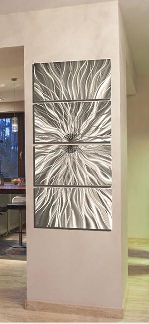 Amazon.com: Statements2000 Silver Metal Wall Art, Abstract Metallic on