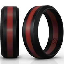 Rubber Wedding Bands.Knot Theory Camo Silicone Wedding Ring Band For Men Women Superior Non Bulky Rubber Rings Premium Quality Style Safety Comfort Ideal Bands For