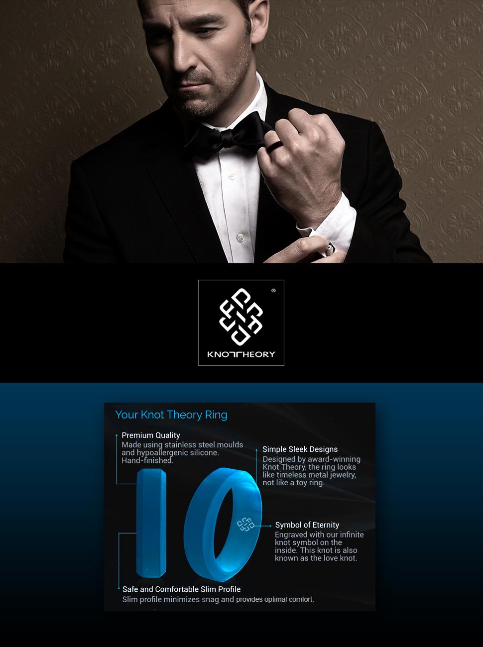 Amazoncom Knot Theory Silicone Wedding Ringx26056mm Band for