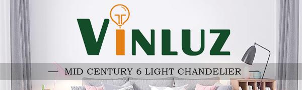Mid century 6 light chandelier