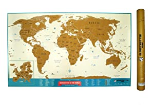 Amazoncom Scratch Off World Map Travel Tracker Europe Close - Scratch off us map