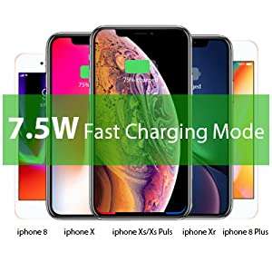 7b7b6fbe9b8a6 Magnetic Wireless Car Charger, WYNK Car Mount Phone Holder Fast Charging  Compatible for Apple iPhone Xs/XS Max/XR/X/8/8 Plus,Samsung Galaxy ...