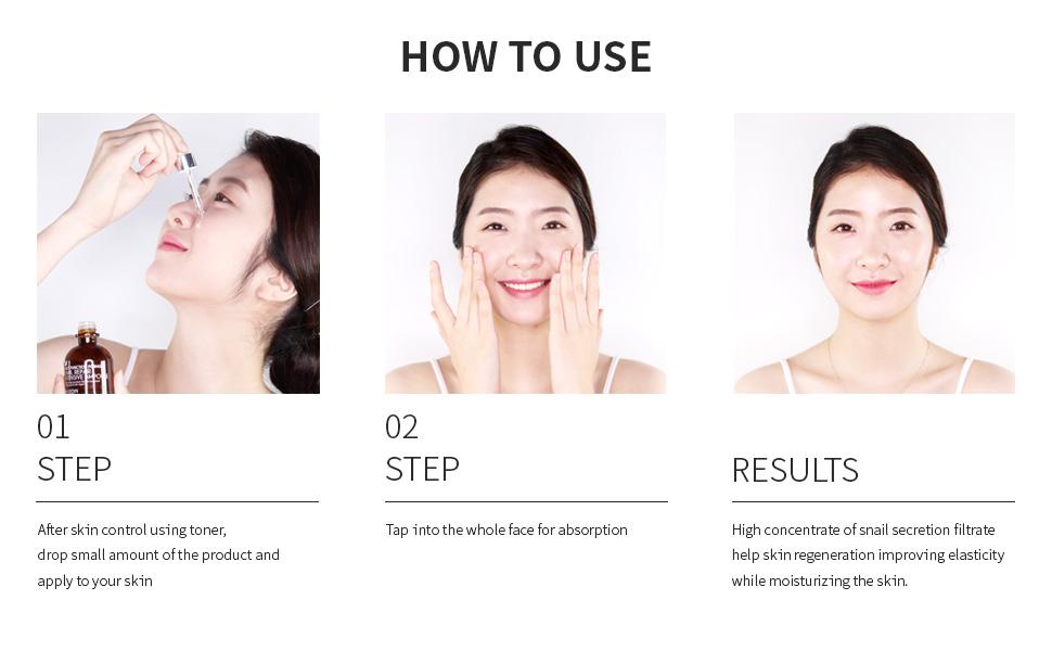 mizon, mizon snail ampoule, mizon how to use, how to use snail ampoule, snail repair intensive serum