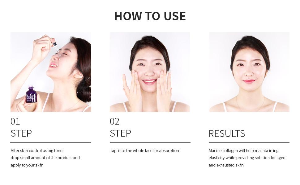 mizon, mizon collagen 100, mizon how to use, how to use collagen 100, how to use collagen 100, serum