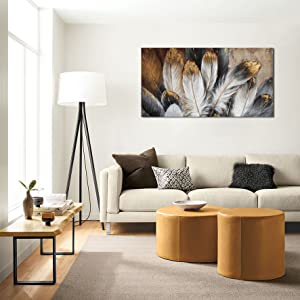 feather wall art for living room