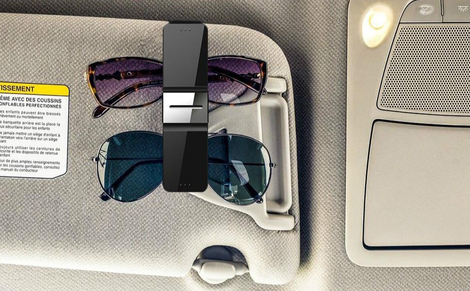 Auto Sun Visor Clip Holder Storage Mount Sunglasses Glasses Car Accessories W