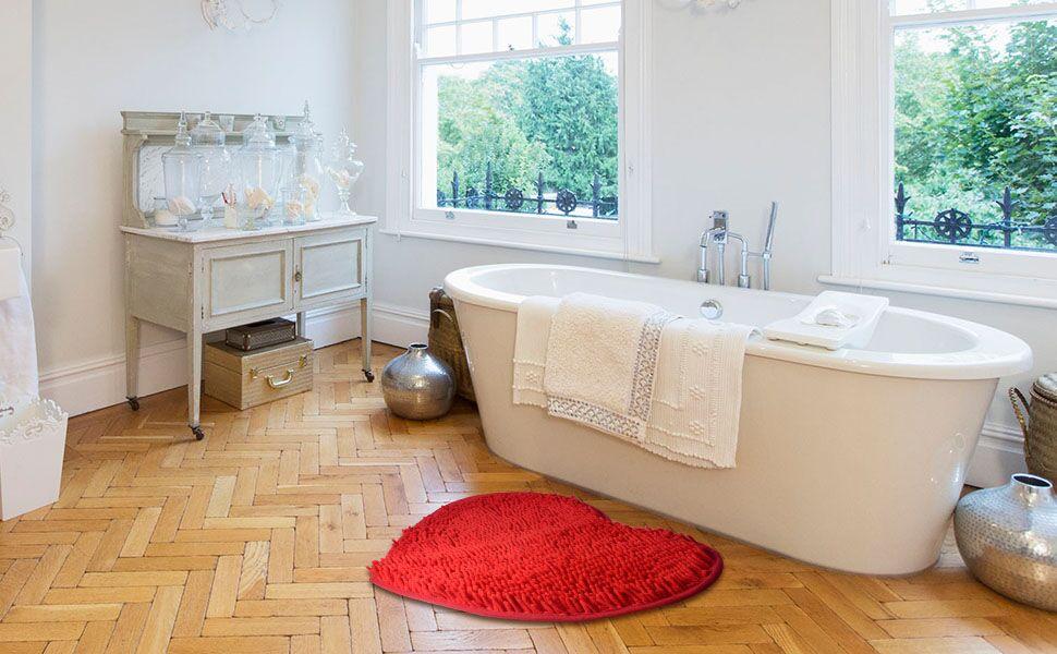 bathroom floor mats for wood amazoncom bathroom rugs heart shaped bathroom rug and mats sets