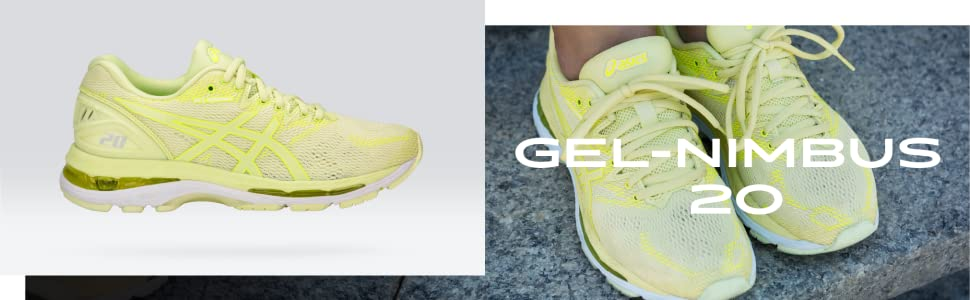 Asics Gel-Nimbus 20 Mult Sizes Women/'s Running Shoe Lime Green//Yellow