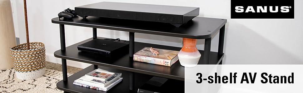 av stand heavy duty strong speaker amp best sanus amazon quality stable gaming streaming printer