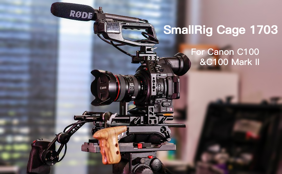 SMALLRIG Camera Video Cage for Canon EOS C100 & C100 Mark II with 15 mm Rod  Clamp - 1703