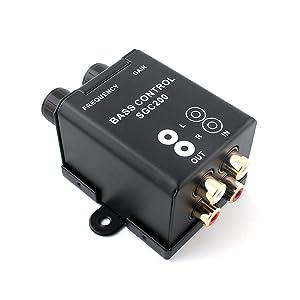 Car Home Subwoofer Equalizer Crossover Amplifier RCA Adjust Line Level Volume Remote Amplifier Level Controller