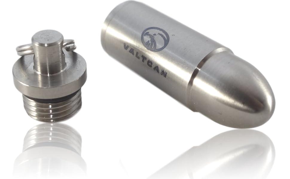 Amazon.com: Valtcan - Llavero de titanio con forma de bala y ...