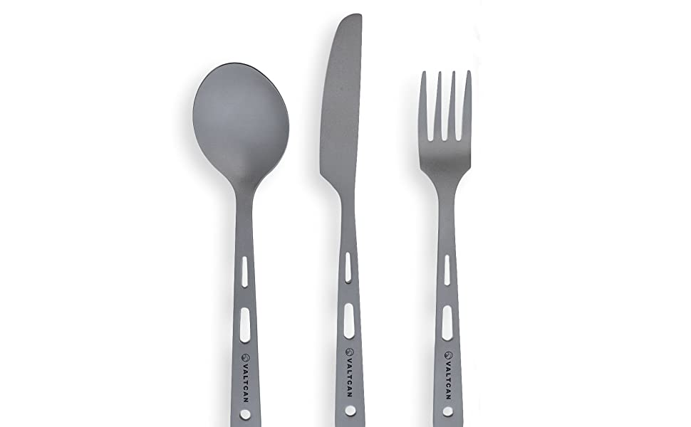 three piece titanium utensil