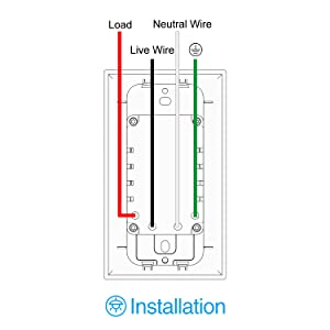wiring picture, smart light switch, wall smart switch