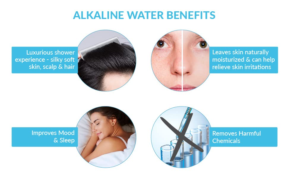 alkaline water PH004 Invigorated Water pH Energize shower product purify ionise shower head benefits