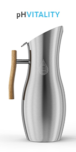 Invigorated Water pH VITALITY UPC 761856339316 alkaline water stainless steel pitcher