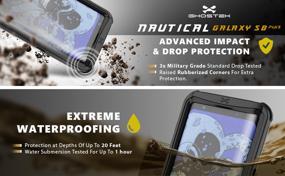 Samsung Galaxy S8 Plus S8+ Waterproof Case  d827ed7813798