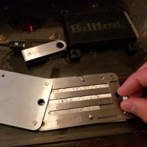Billfodl Cryptosteel Hodl Ledger Trezor Keepkey ColdTi crypto key stack bitcoin cryptocurrency