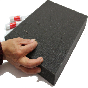 JINLL 1-Piece Wool Felt Durable Sponge Mat Foam Pad for Felting