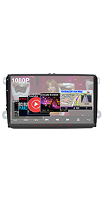 Amazon.com: Android 9.0 Car Stereo for Volkswagen VW 2+16G ...