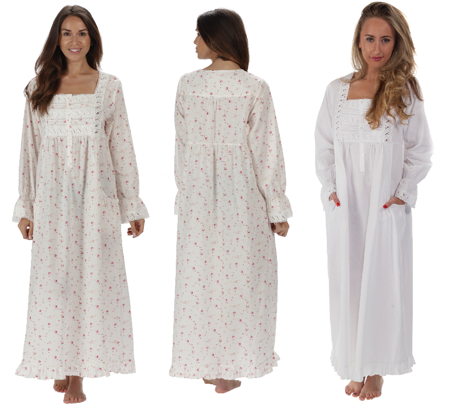 The 1 for U 100% Cotton Nightgown - Gown Pockets - 7 Sizes ...
