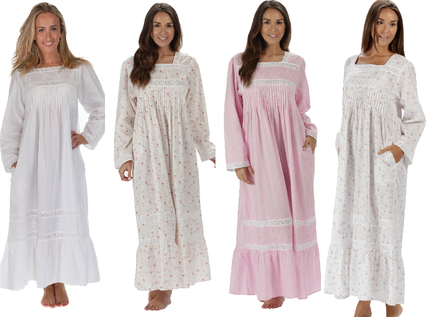 The 1 for U 100% Cotton Nightgown Violet Pockets 7 Sizes at Amazon ...
