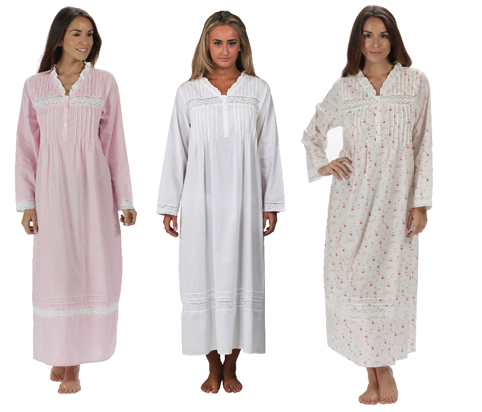 The 1 for U 100% Cotton Nightgown Vintage Design - Annabelle at ...