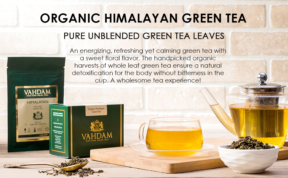 Amazon Com Vahdam Green Tea Leaves From Himalayas 50 Cups 100