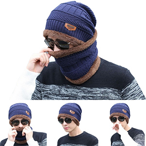e478a4aceb0 Fantastic Zone 2-Pieces Winter Beanie Hat Scarf Set Warm Knit Hat ...