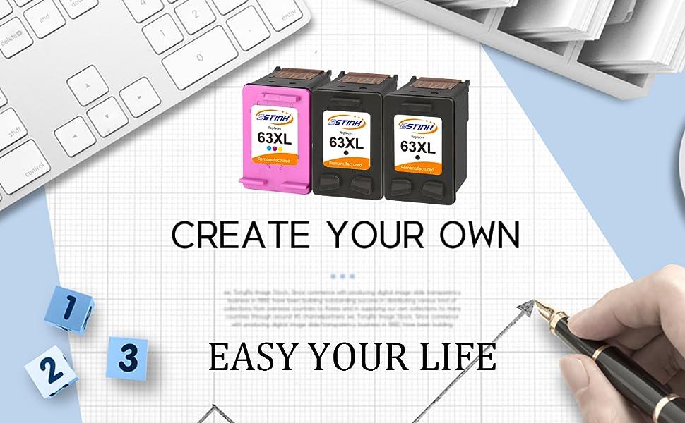 Amazon.com: BSTINK - Cartucho de tinta remanufacturado (1 ...