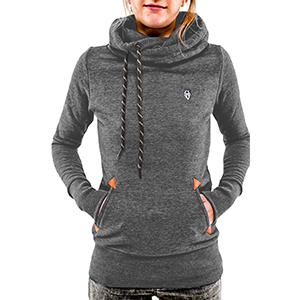 Cutiefox Women's Pullover Hoodie Funnel Neck Pocket Long Sleeve ...