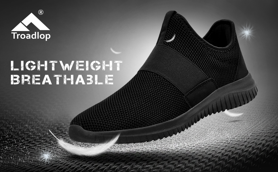 6fcc1babdfa4 Features of TROADLOP Mens Sneakers Slip On Gym Workout Shoes. Lightweight  ...