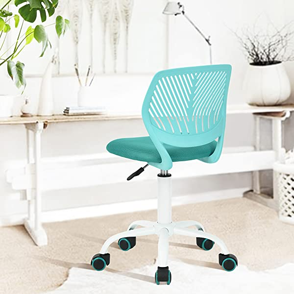 Get A Young U0026 Stylish Look Armless Mid Back Mesh Office Chair